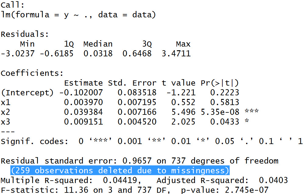 Regression Analysis with Missing Data