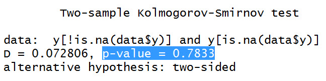 Kolmogorov-Smirnov Test Between Densities