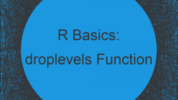 droplevels R Example | How to Drop Factor Levels of Vector & Data Frame
