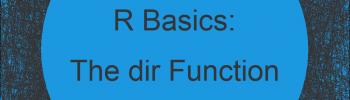 dir R Function   3 Example Codes