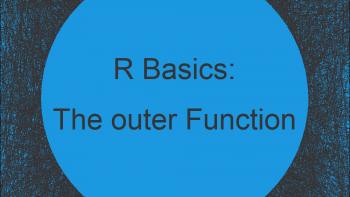R outer Function   4 Example Codes (Basic Application & User Defined)