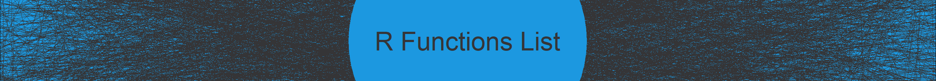 R Functions & Commands