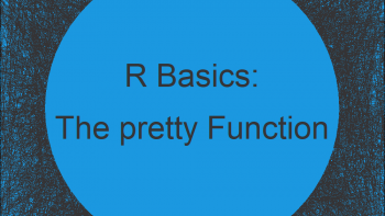 R pretty Function | 3 Example Codes (Interval Sequence & Set Axis Labels of Plot)