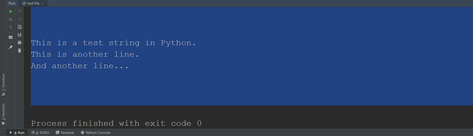 Example String for Removal of Newlines in Python