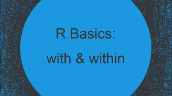 with & within Functions in R (2 Examples)