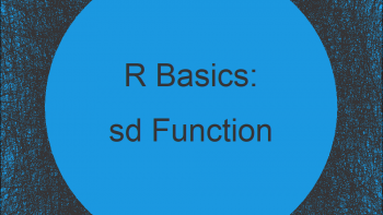 Standard Deviation in R (3 Examples)   Apply sd Function in R Studio