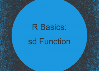 Standard Deviation in R (3 Examples) | Apply sd Function in R Studio