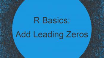 Add Leading Zeros in R (Example)