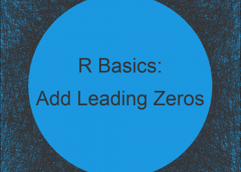 Add Leading Zeros in R (Example)