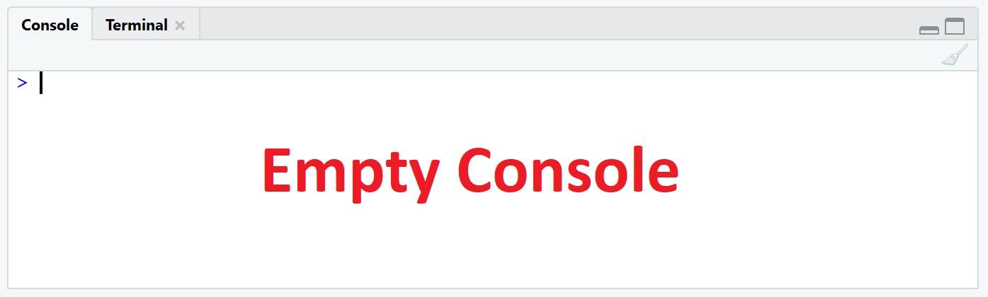 empty r console