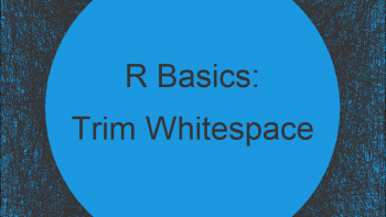 Trim Leading and Trailing Whitespace in R (Example for trimws Function)