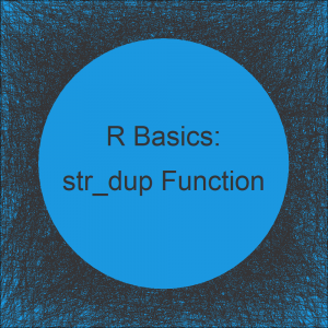 str_dup Function in R (stringr Package)