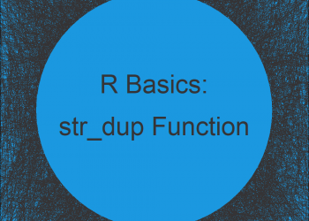 str_dup Function in R (stringr Package)