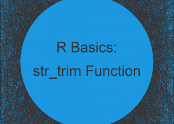 str_trim Function in R (Example)