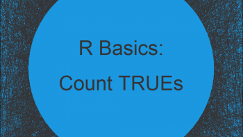 Count TRUE Values in Logical Vector in R (2 Examples)