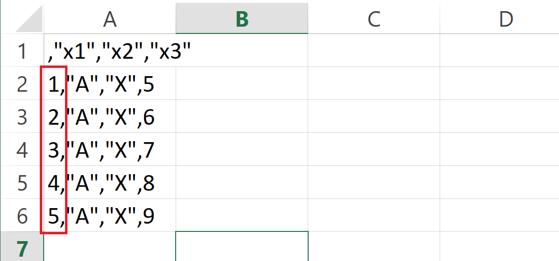 csv file with row names