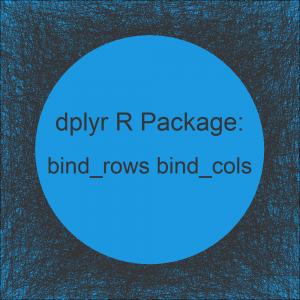 bind_rows & bind_cols R Functions of dplyr Package (2 Examples)