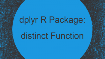 distinct R Function of dplyr Package (Example)