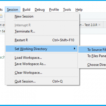 Set Working Directory to Source File Location Automatically vs. Manually in RStudio (2 Examples)