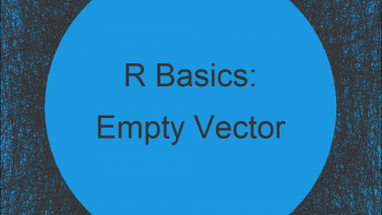 How to Create a Vector of Zero Length in R (Example)