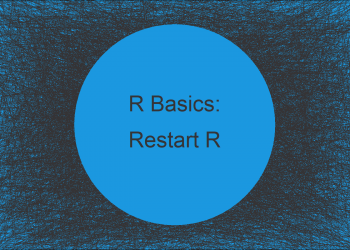 Quit & Restart Clean R Session from within R (Example)