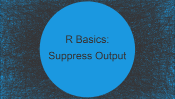 Suppress Output of Command in R (Example)
