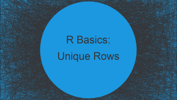 Unique Rows of Data Frame Based On Selected Columns in R (Example)