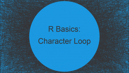 Loop with Character Vector in R (Example)