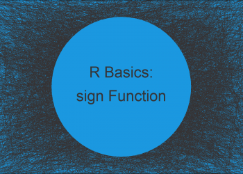 sign Function in R (Example)