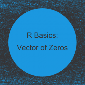 How to Create a Vector of Zeros in R (5 Examples)