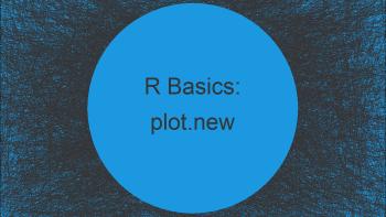 R Error: plot.new has not been called yet (2 Examples)