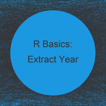Extract Year from Date in R (Example)