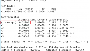 How to Extract the Intercept from a Linear Regression Model in R (Example)
