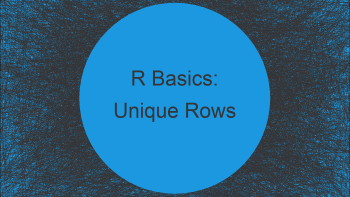 Find Rows in First Data Frame that are not in Second in R (Example)