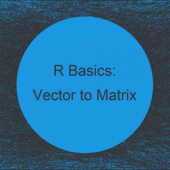 Convert Vector to Matrix in R (Example)
