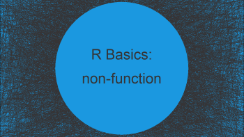 Error: attempt to apply non-function in R (2 Examples)