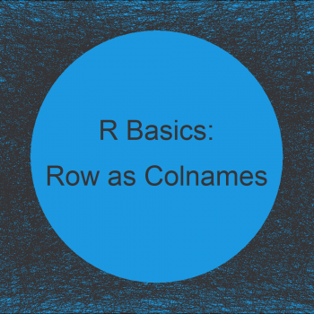 Assign Column Names Based On Existing Row in R (2 Examples)