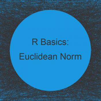 Calculate Euclidean Norm of Vector in R (Example)
