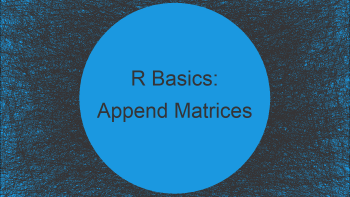 Concatenate Two Matrices in R (2 Examples)