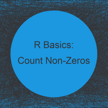 Count Non-Zero Values in Vector & Data Frame Columns in R (2 Examples)