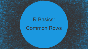 Find Common Rows Between Two Data Frames in R (2 Examples)