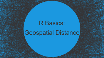 Geospatial Distance Between Two Points in R (Example)