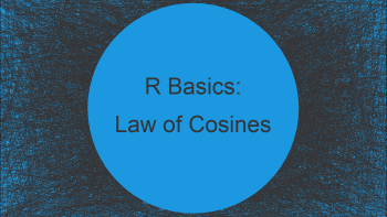 Law of Cosines Great Circle Distance in R (Example)