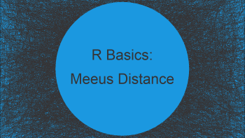 Meeus Great Circle Distance in R (Example)