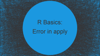 R Error in apply(data) : dim(X) must have a positive length