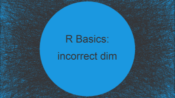 R Error: incorrect number of dimensions (2 Examples)