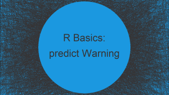 R predict() Warning message: 'newdata' had X rows but variables found have Y rows