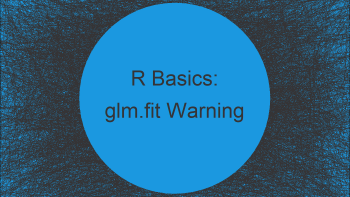 glm.fit Warning Messages in R: algorithm didn't converge & probabilities 0/1