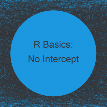 Remove Intercept from Regression Model in R (2 Examples)