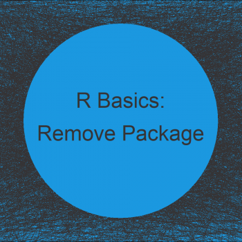R Warning: cannot remove prior installation of Package 'X'